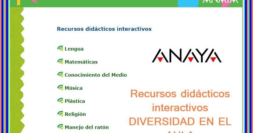 ANAYA 3º RECURSOS DIDACTICOS INTERACTIVOS