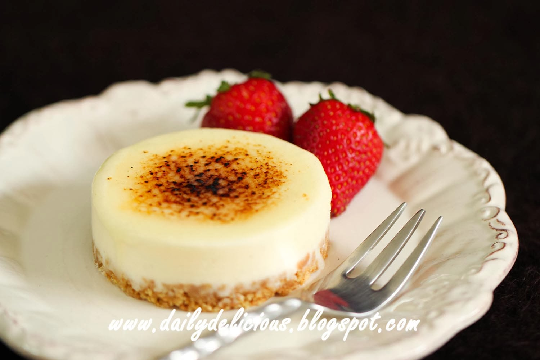 Vanilla Cheese Cake Lemon Zest Bake