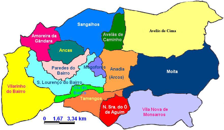mapa de portugal anadia Anadia Sem Gente mapa de portugal anadia