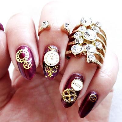 Steampunk Wedding Nails
