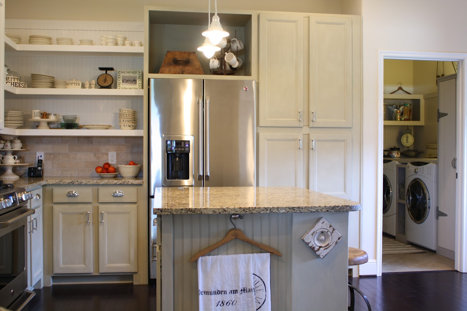 cottage kitchen cabinets with legs the little on pond finished