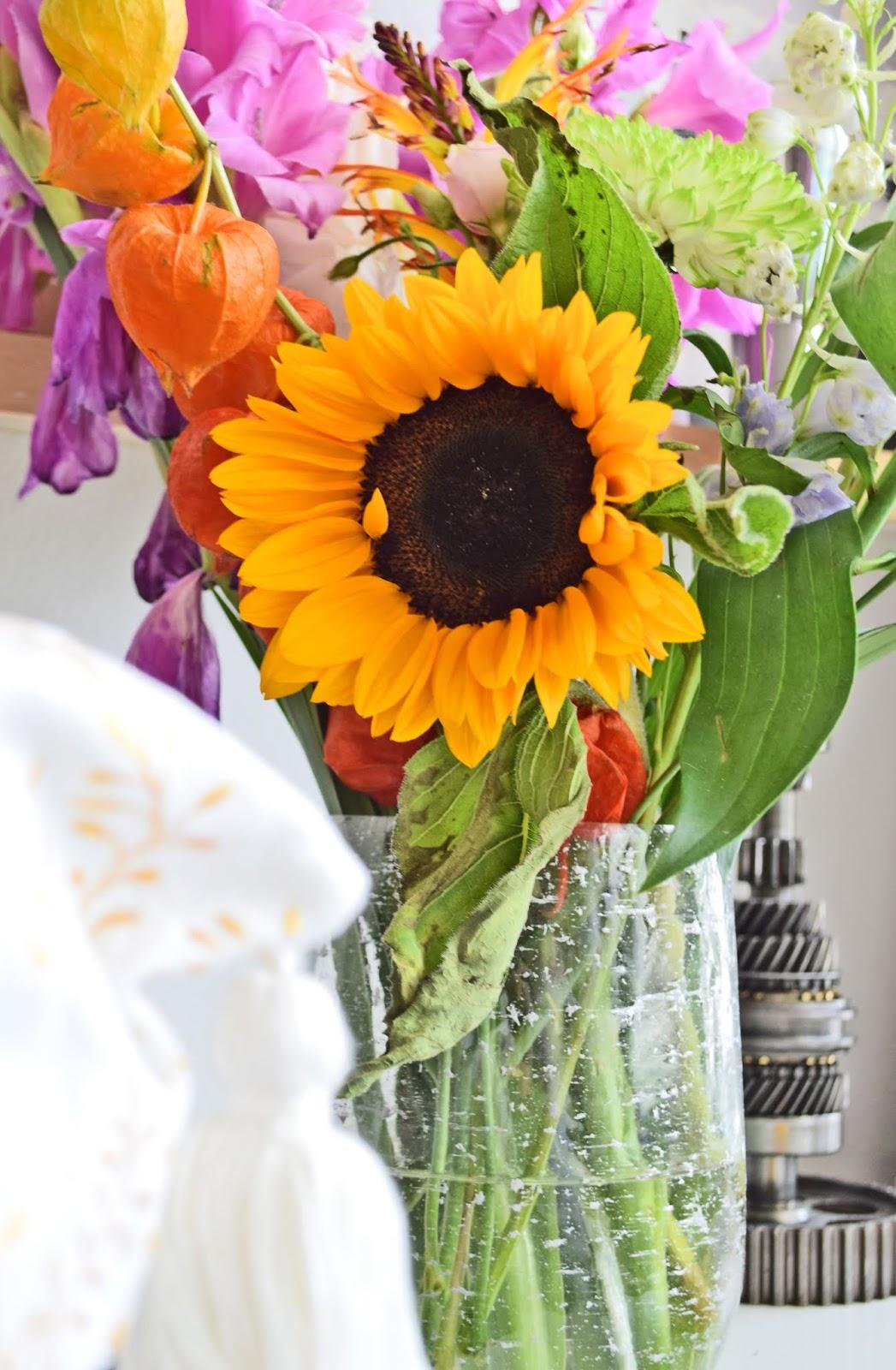 Jesienny bukiet kwiatów