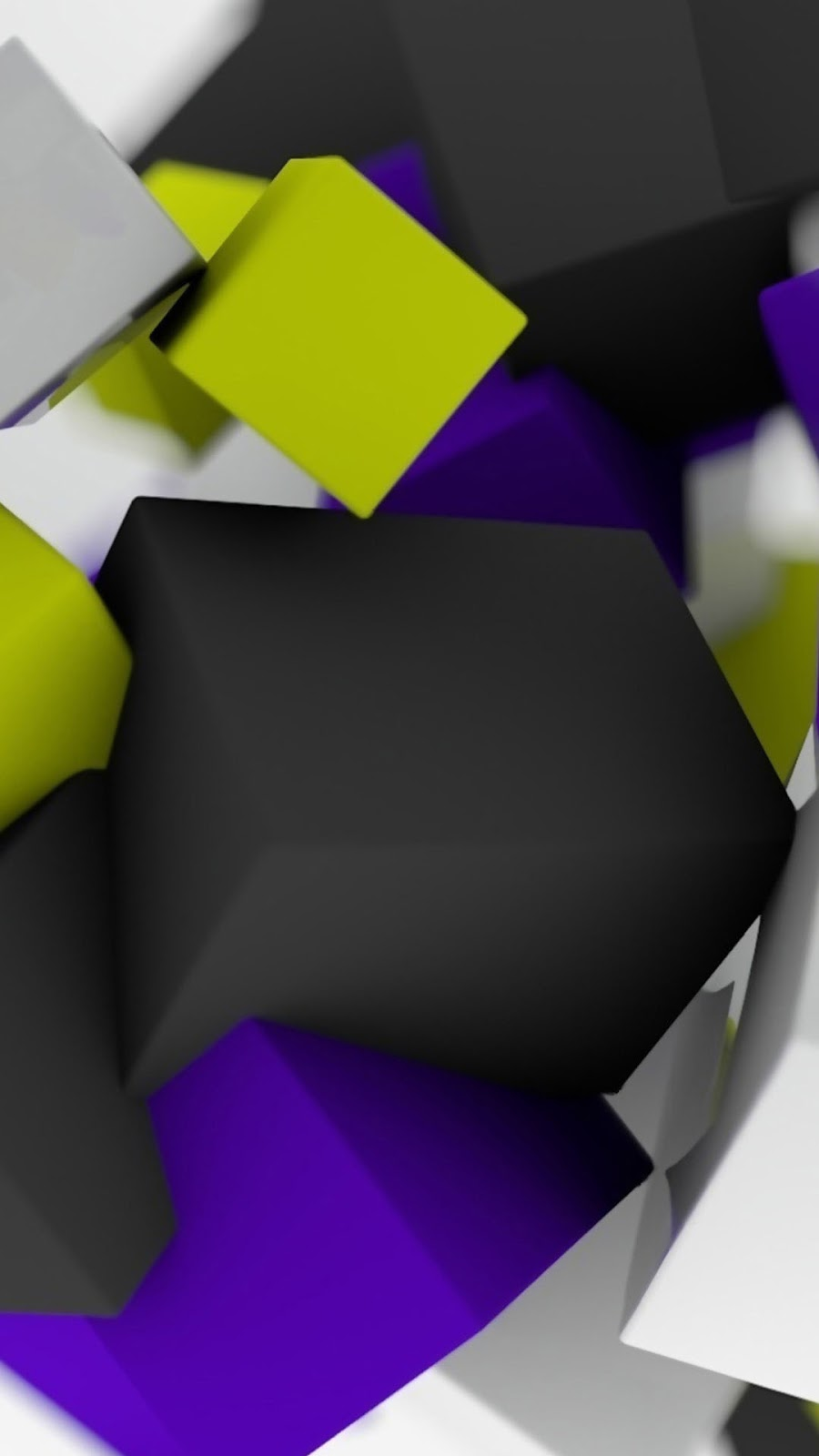 Floating 3D Colorful Cubes Android Wallpaper