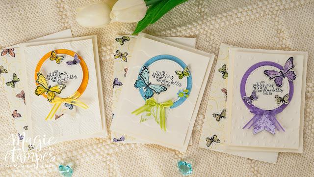 cartes présentant le lot Gala de papillons Stampin' Up!