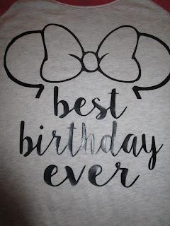 Minnie Mouse Birthday Vinyl Shirt 18