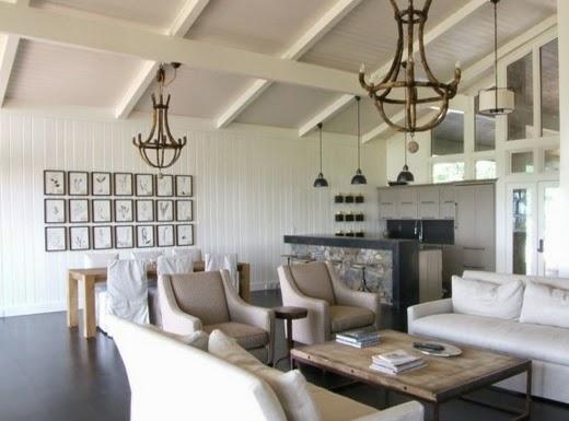 diseño sala estilo vintage