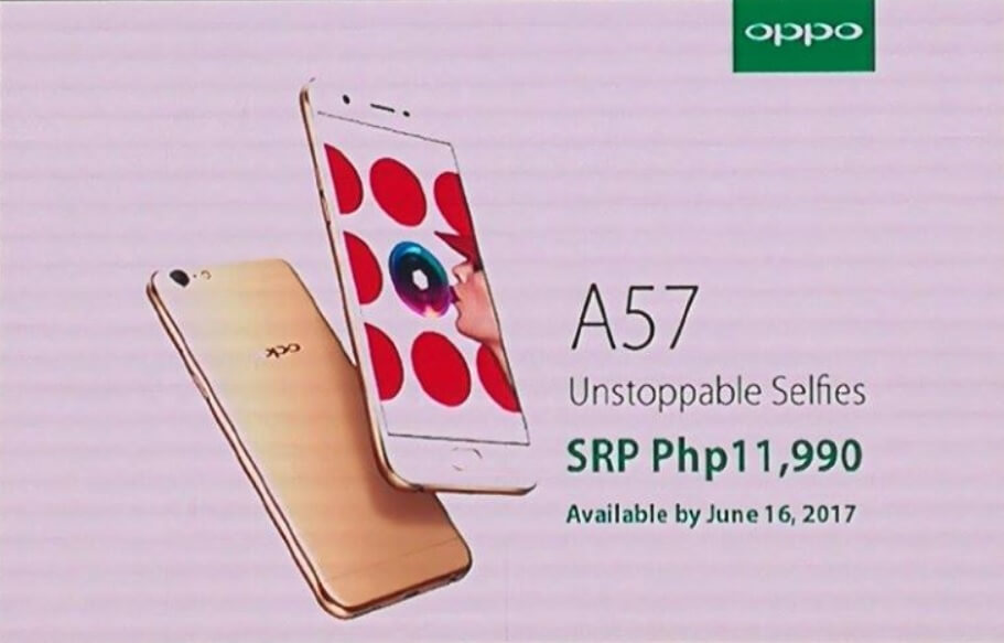 OPPO A57 Lands in the Philippines for Php11,990