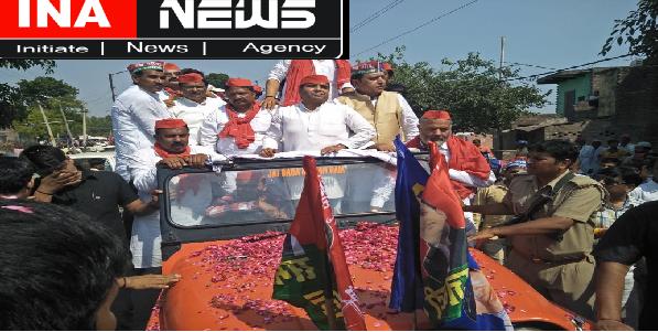Sahasvaan-me-saansad-dharmendra-yadav-ka-etihaasik-road-show