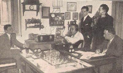 Confrontación de ajedrez por radio en 1930
