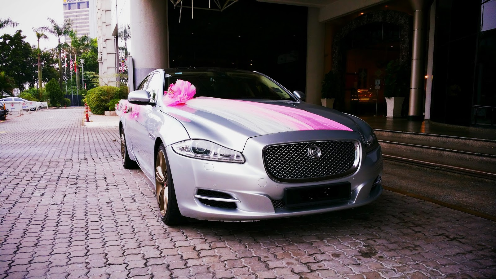 Redorca malaysia wedding and event car rental jaguar xjl wedding jaguar xjl wedding car rental with custom pink and white decorations junglespirit Gallery