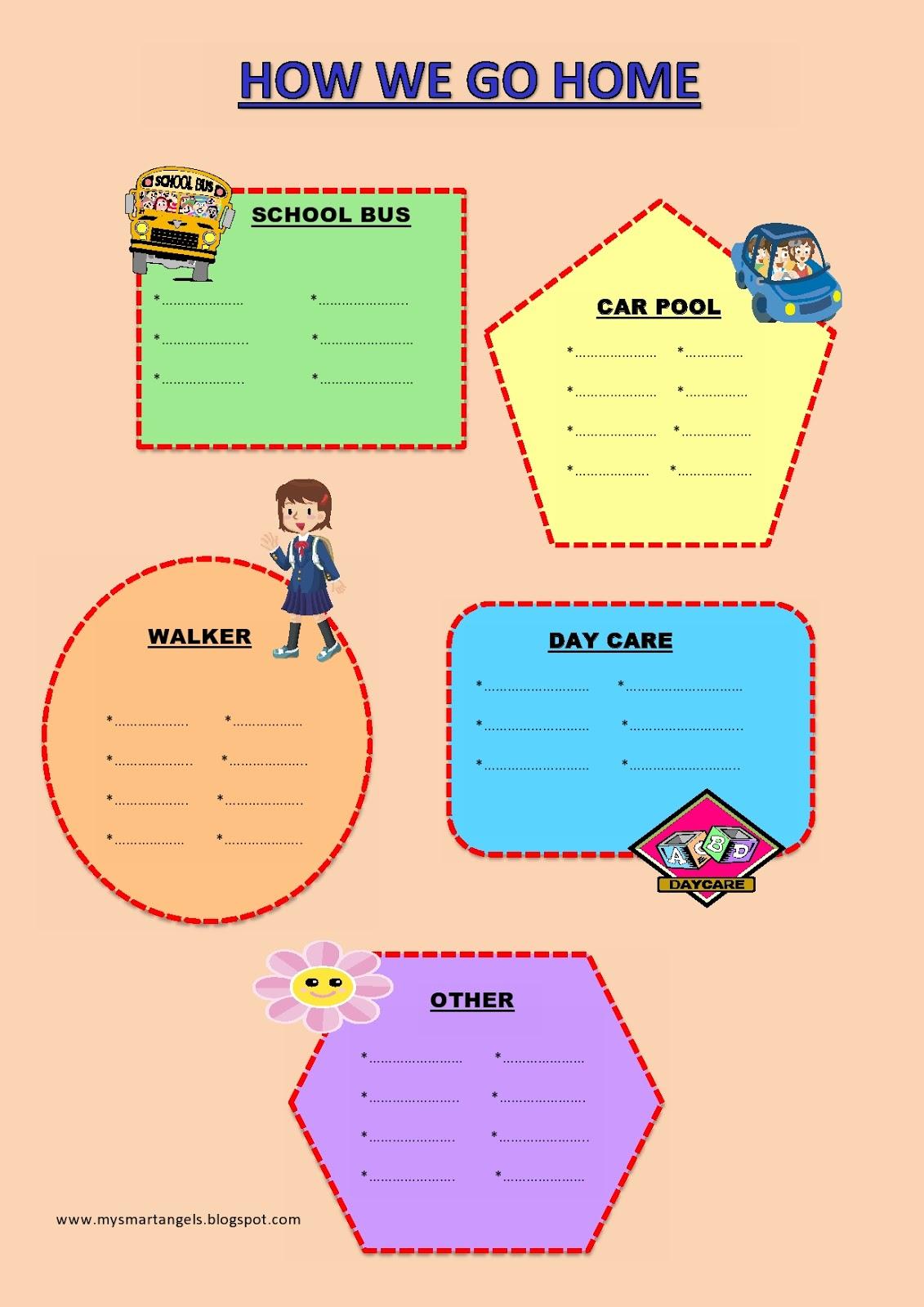 Kinder Smart Work How We Go Home