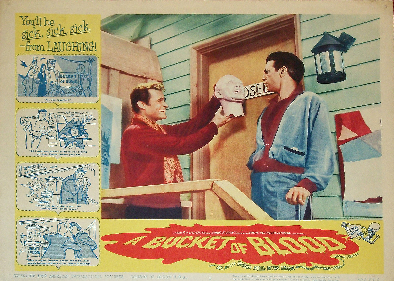 Un cubo de sangre (A Bucket of Blood ) Roger Corman -  1959