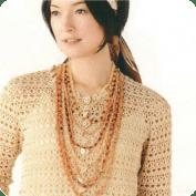Blusa Beige a Crochet