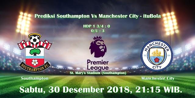 Prediksi Southampton Vs Manchester City - ituBola
