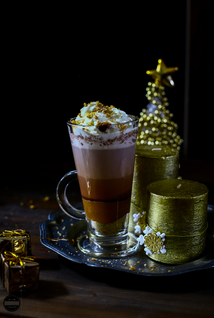 Homemade Billionaire's hot chocolate and Latte is so easy to make at home.