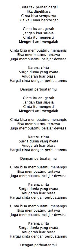 Lirik Lagu The Overtunes Cinta Adalah