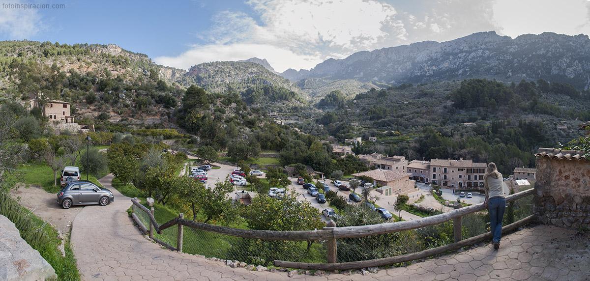 Panorámica del pueblo de Fornalutx en el valle de Sóller