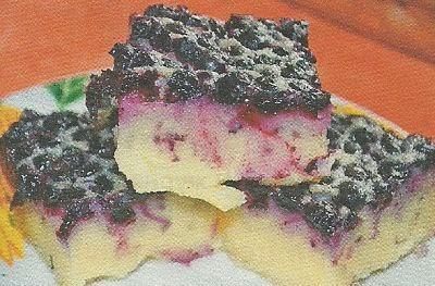 Состав продуктов и способ приготовления клафути с черникой