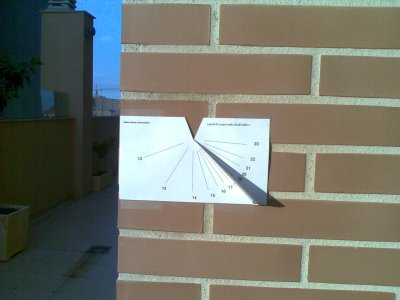 Como hacer un Reloj de Sol de Papel