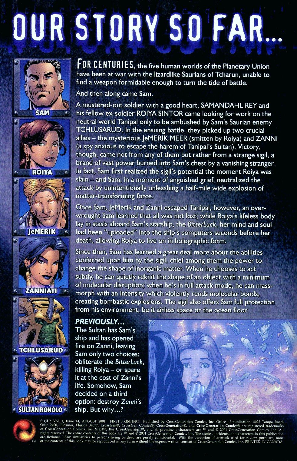 Read online Sigil (2000) comic -  Issue #14 - 2