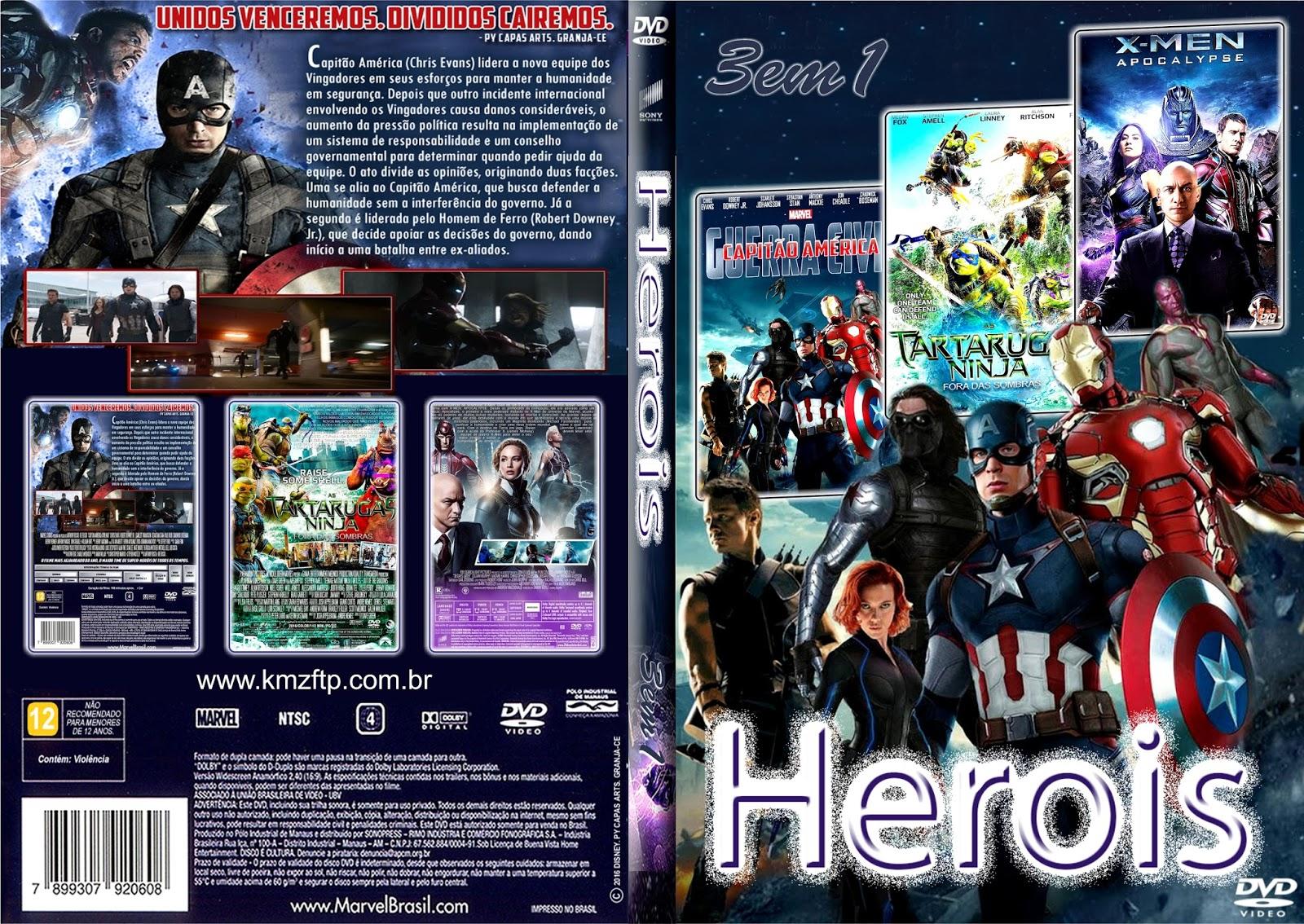 Download Heróis 3X1 DVD-R herois 3em1 www