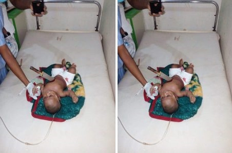 OMG! Woman Stabs Own 8-Month-Old Baby In Ebonyi (Graphic Photo)