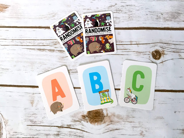 randomise cards, a, b, c