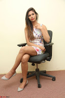 Nishi Ganda stunning cute in Flower Print short dress at Tick Tack Movie Press Meet March 2017 198.JPG