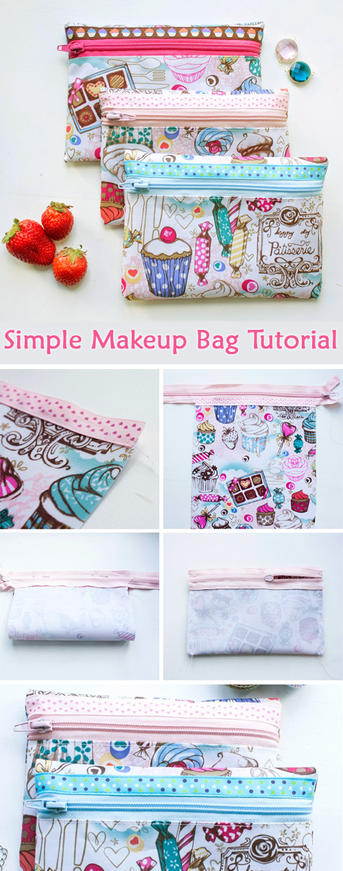 A very simple makeup bag for beginners.