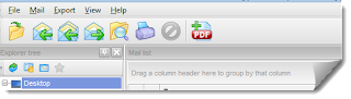 Export .eml to pdf - toolbar image