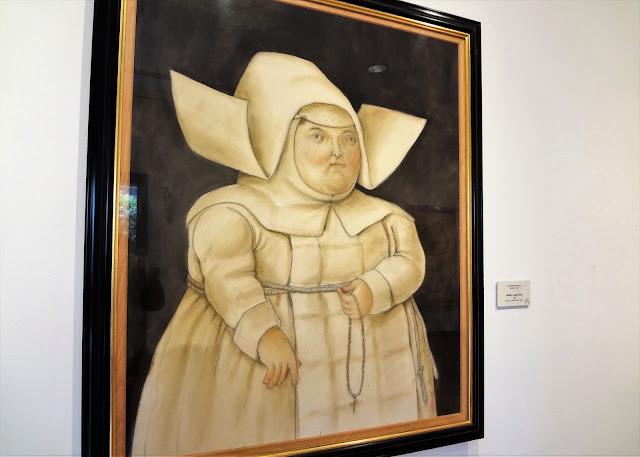 ボテロ作品「キリスト教徒の女性」(ボテロ博物館)