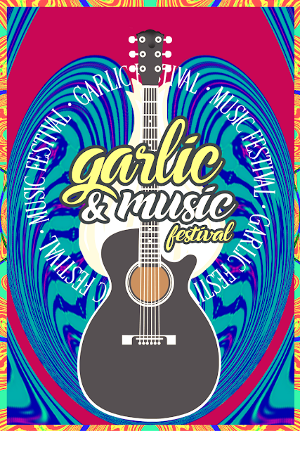 -Garlic and Music Festival- Garlic and Guitar Poster -