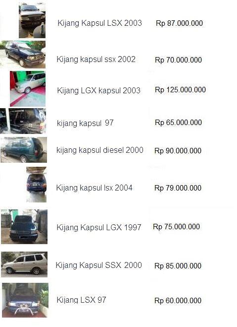 harga mobil bekas kijang kapsul 2016