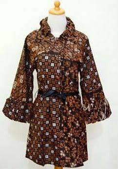 Model Dress Batik Orang Gemuk untuk kerja