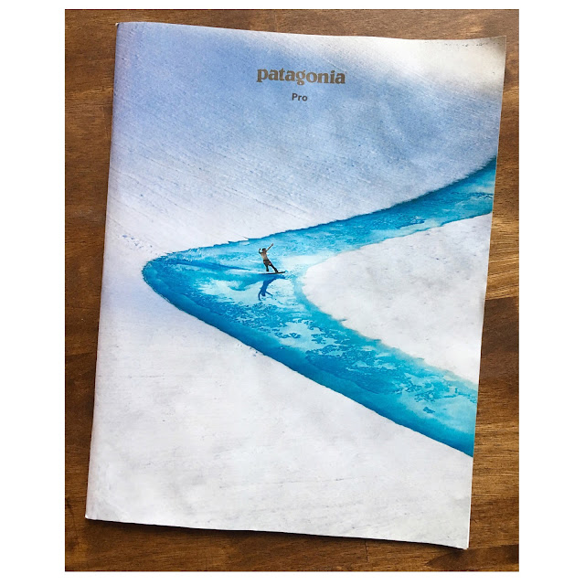 Print ad of Patagonia clothing commercial brand catalog.
