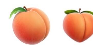 လူရဲ႕ တင္ပါးပံုနဲ႔ ဆင္တူေနတဲ့ Apple ရဲ႕ မက္မြန္သီး emoji