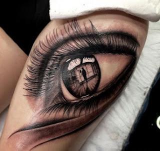 tato mata di tangan 3d