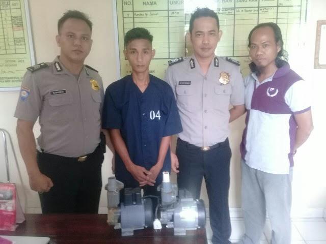 Curi Mesin Pompa Air, Sandra Diringkus Polisi