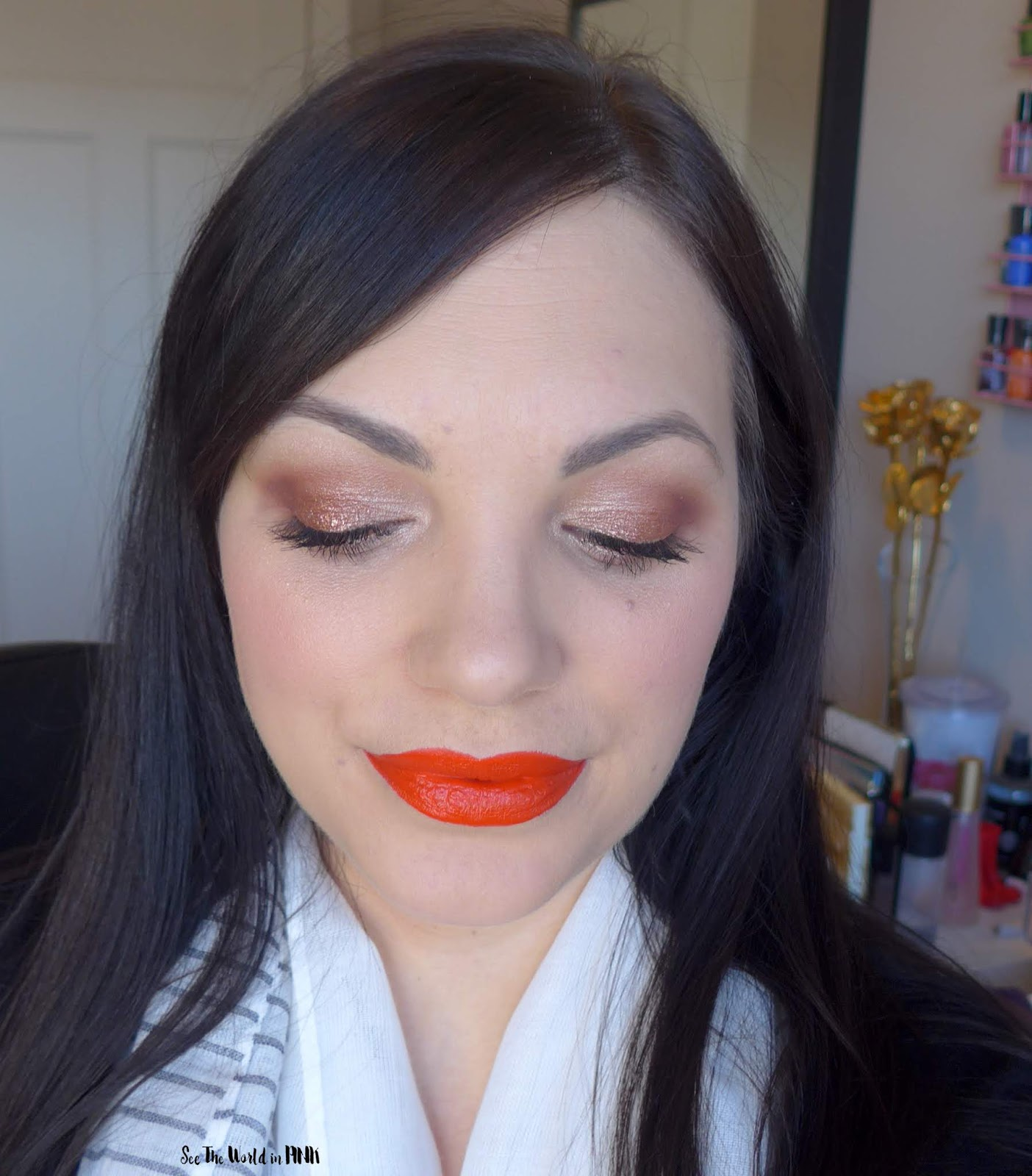 Glam Christmas Look featuring ColourPop Supernova Shadows and Bite Beauty Scorpio!