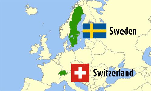 Suecia vs suica