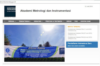 Info Pendaftaran AKMET