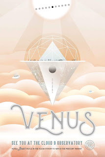 Travel poster advertising the Cloud 9 Observatory on Venus