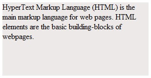 HTML CSS overflow property