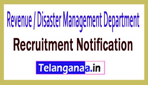 Revenue / Disaster Management Department RDMD Recruitment