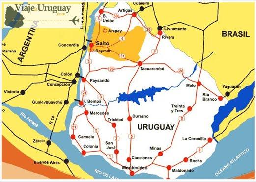 De Salto, no Uruguai, a CONCÓRDIA, na Argentina - Despedindo-me do Uruguai e regressando à Argentina