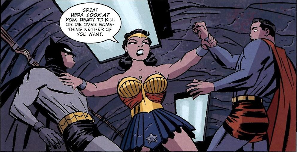 Wonder Woman Combat Superman