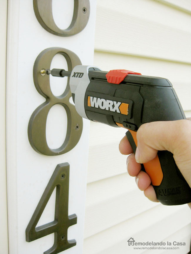 Using Worx drill for quick fixes around the home.