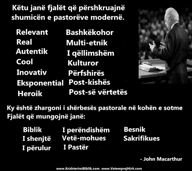 pastori modern, thenie biblike, macarthur shqip,