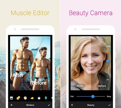 Tampilan Aplikasi Z Camera Filter Effect