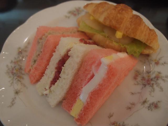 pink sandwiches